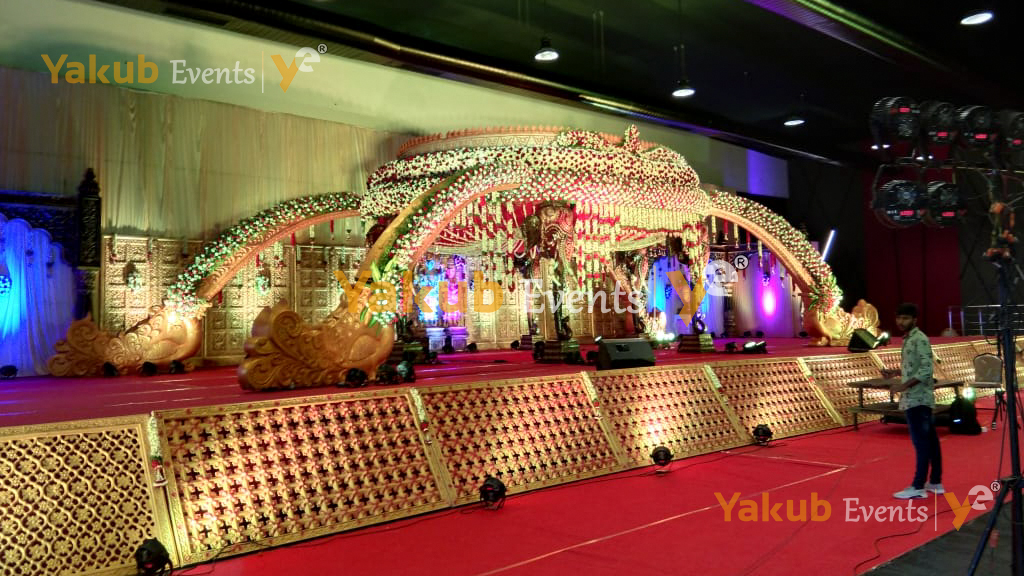 mandapam decoration with flowers