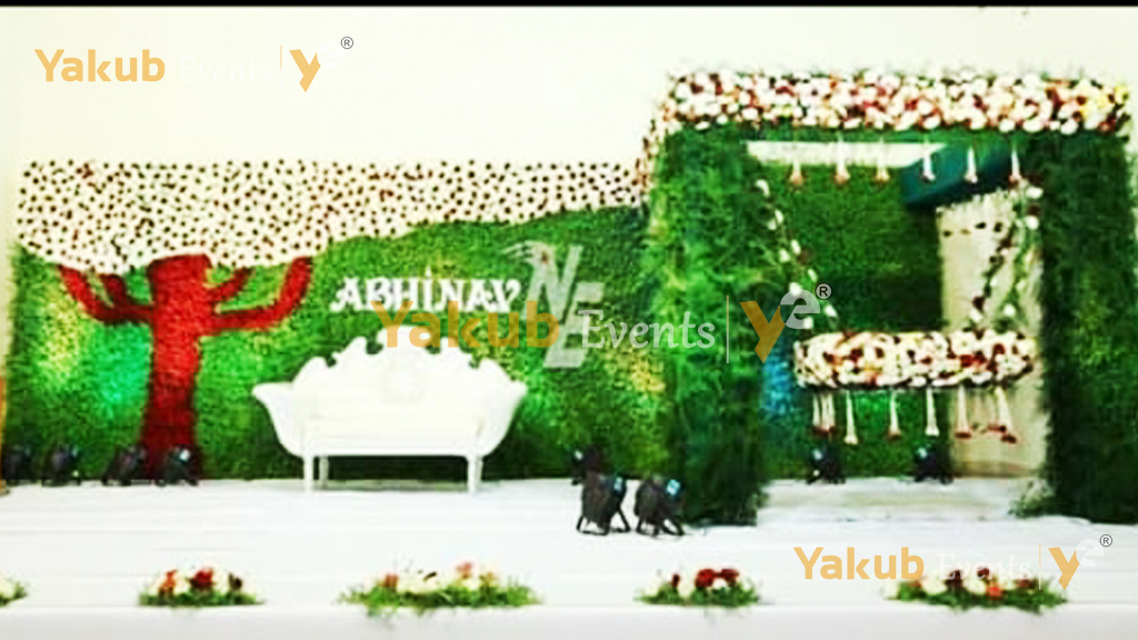 top reception background decoration