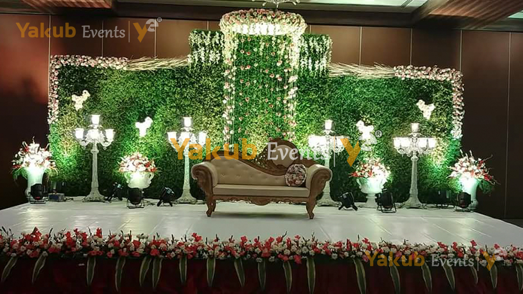 top reception stage theme decorations