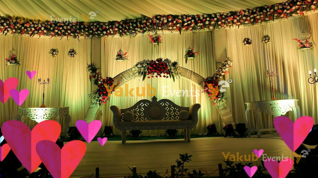 reception stage theme decorations