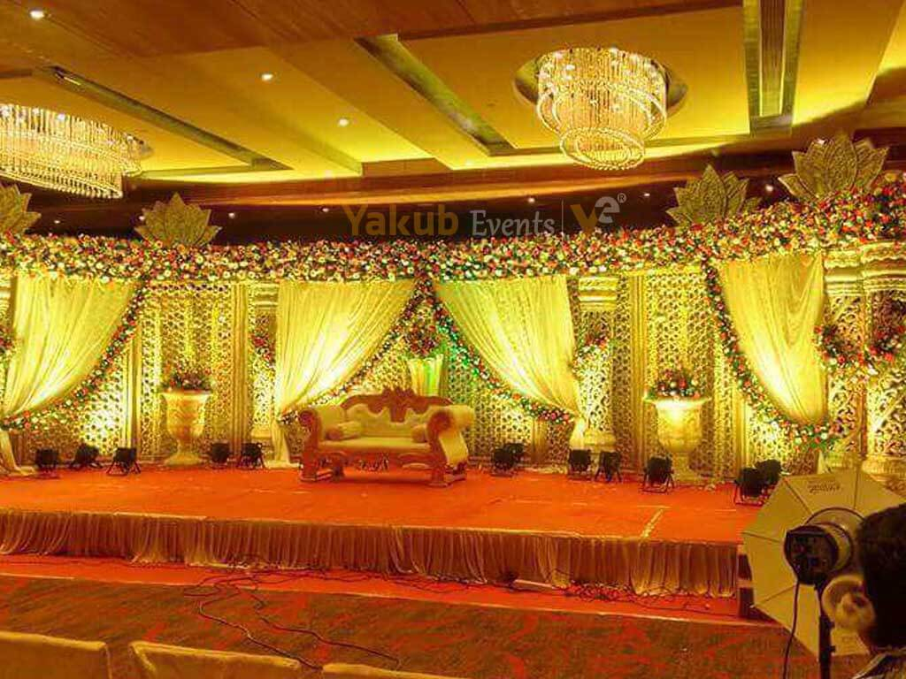 reception stage decorators in Warangal
