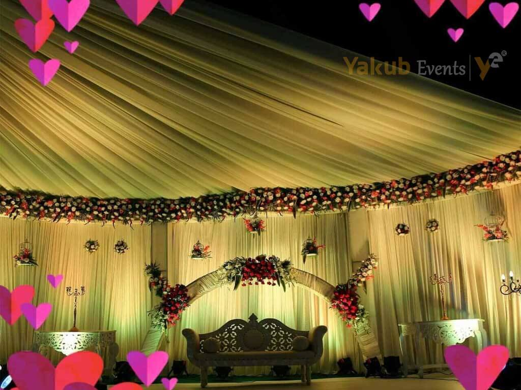 simple reception stage decoration